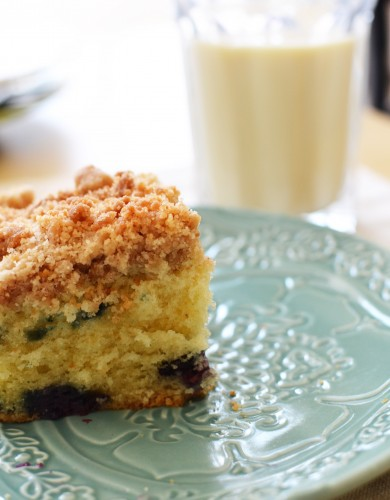 Blueberry Crumb Cake Slice | Sprig and Flours
