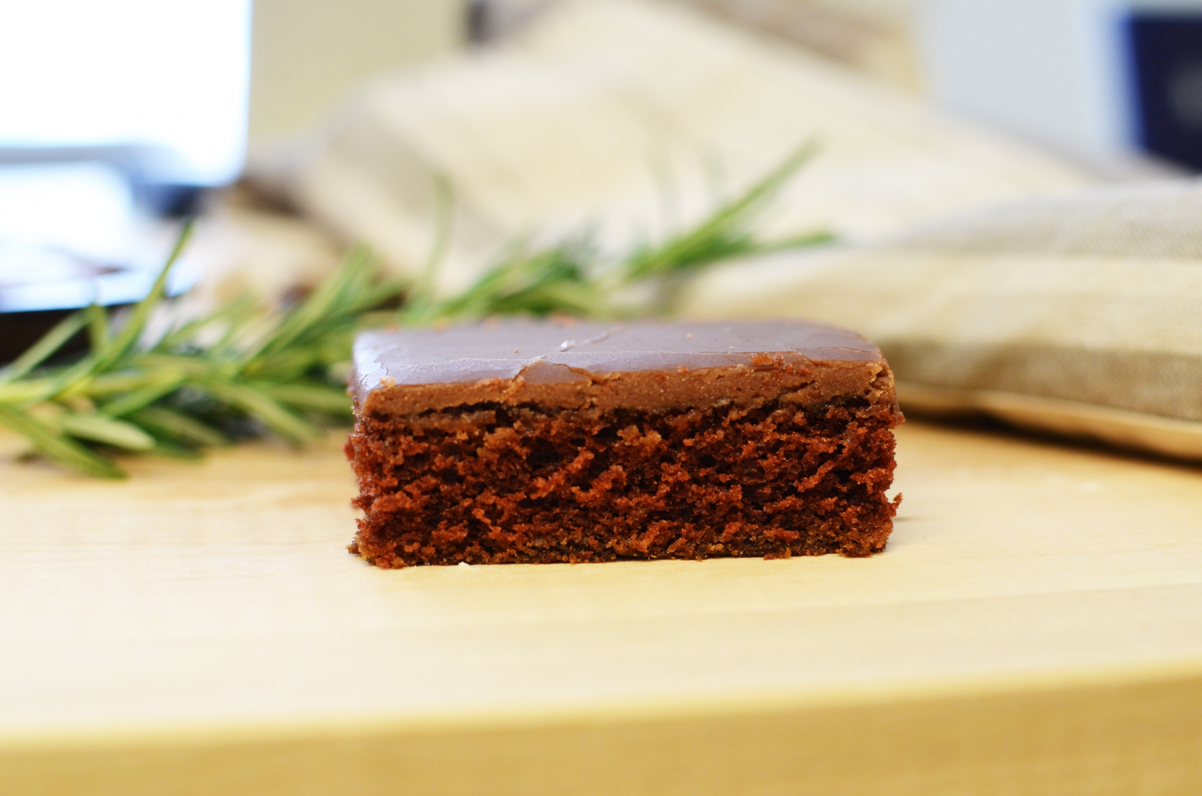 Slice of Chocolate Sheet Cake | Sprig and Flours