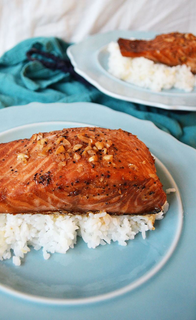 Baked Salmon with a Sweet Soy Sauce Marinade 2 | Sprig and Flours