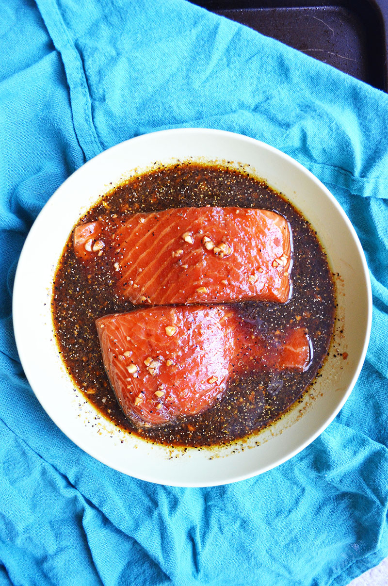 Salmon Marinated in a Sweet Soy Sauce | Sprig and Flours