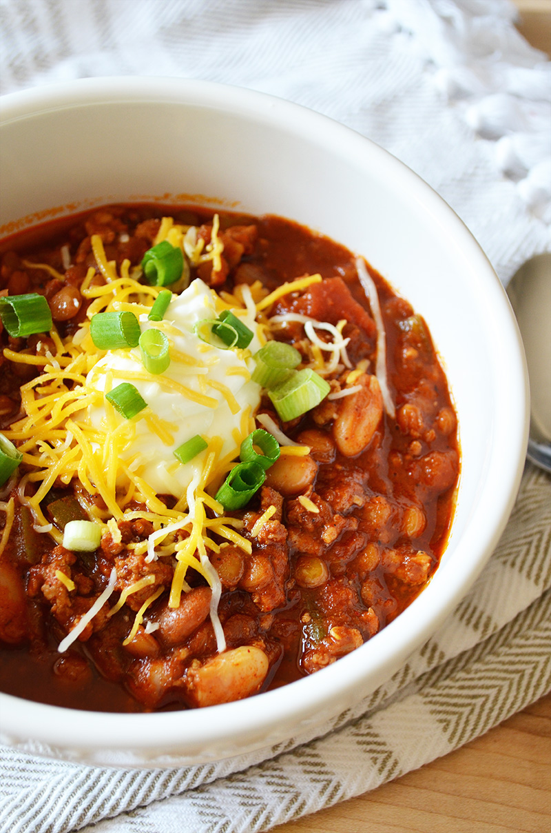Cannellini and Lentil Turkey Chili 5 | Sprig and Flours