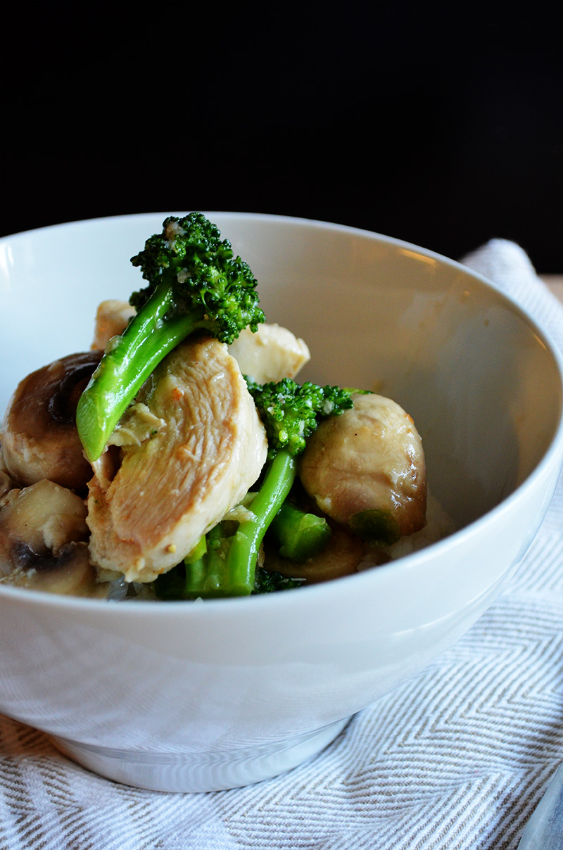 Chicken with Broccoli and Mushrooms | Sprig and Flours
