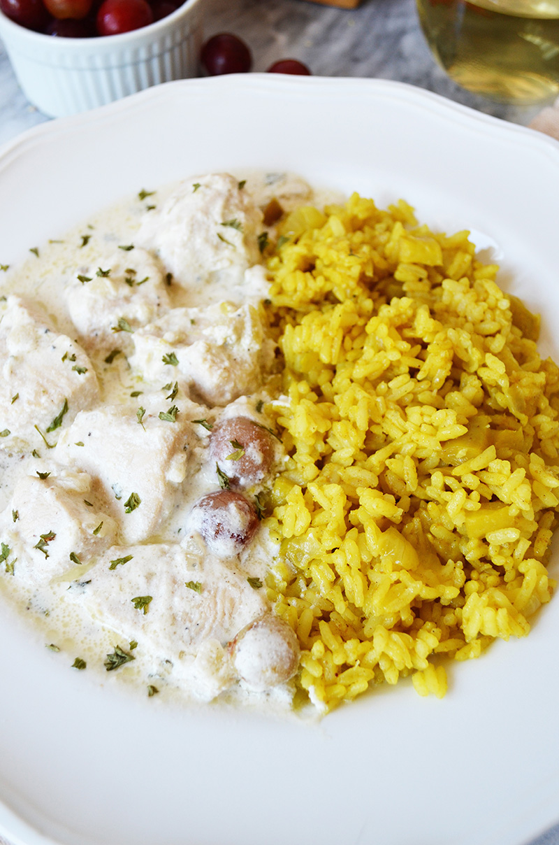 Chicken and Grapes with Curry Rice 6 | Sprig and Flours copy