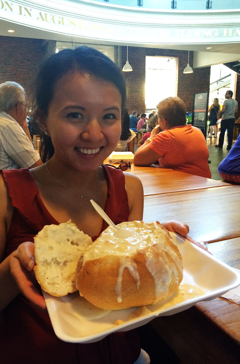 Connie with Clam Chowder | Sprig and Flours