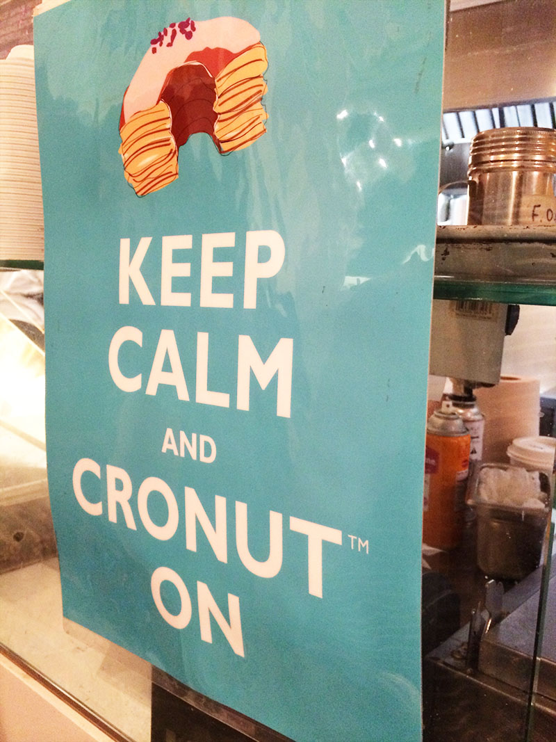 Cronut Sign | Sprig and Flours