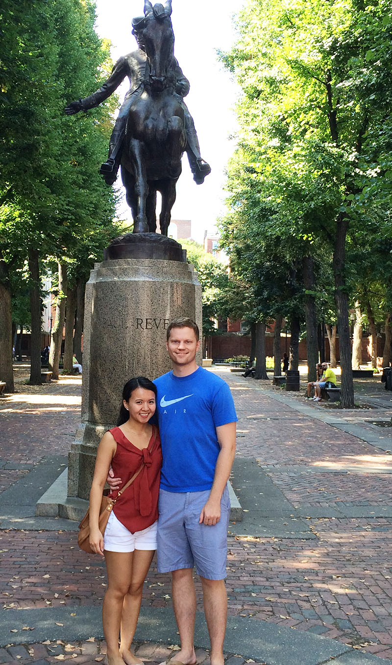 Karl and Connie at Old North Church | Sprig and Flours