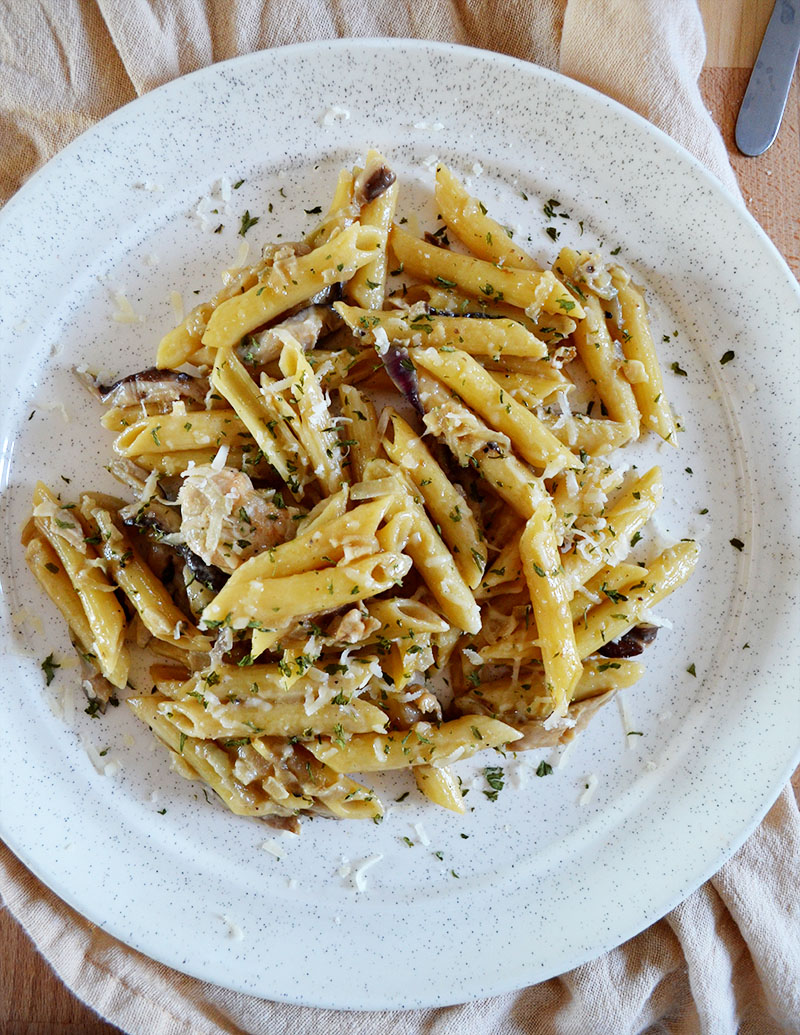 Madeira Chicken and Shiitake Mushroom Penne | Sprig and Flours