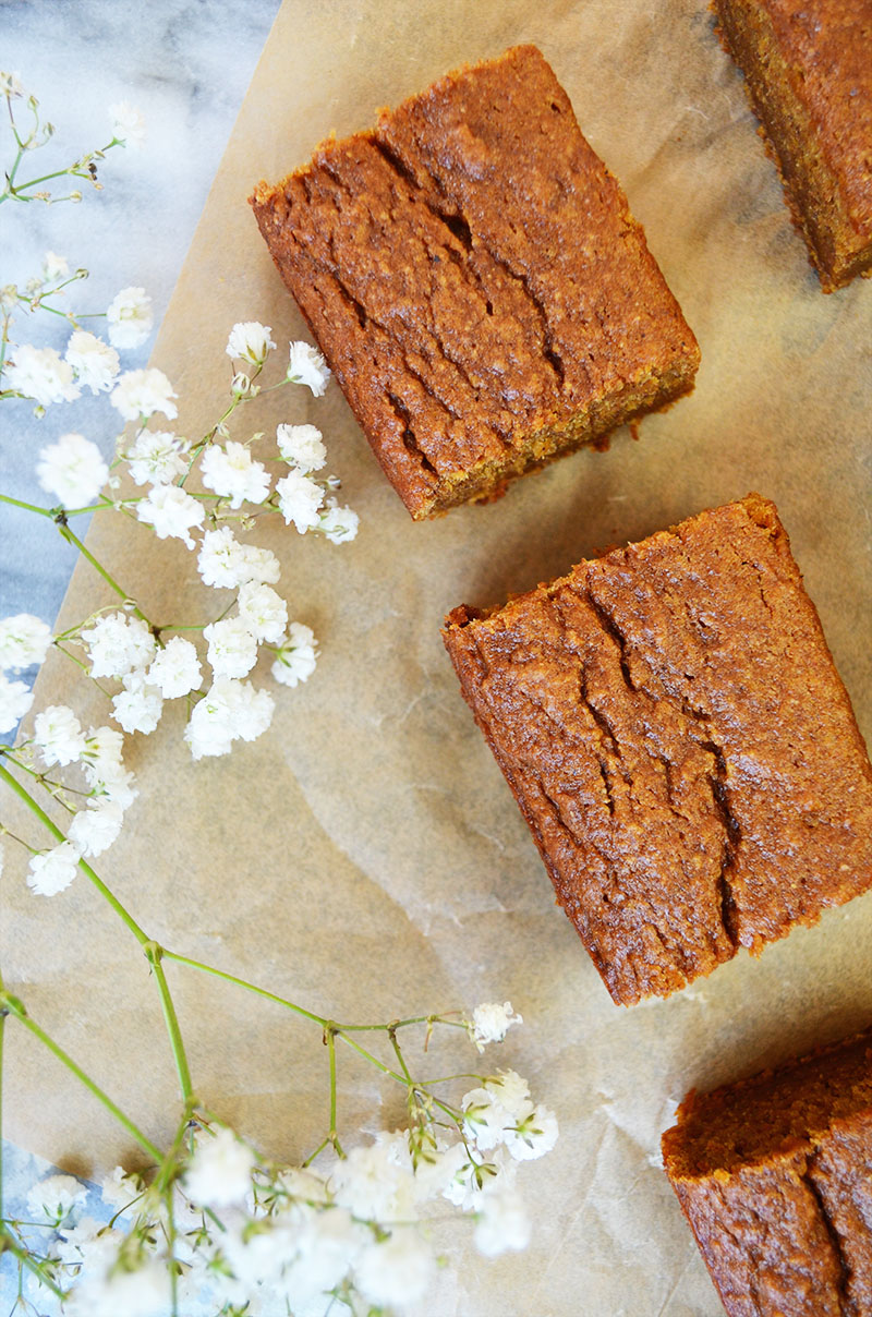 Pumpkin Bars Unfrosted | Sprig and Flours