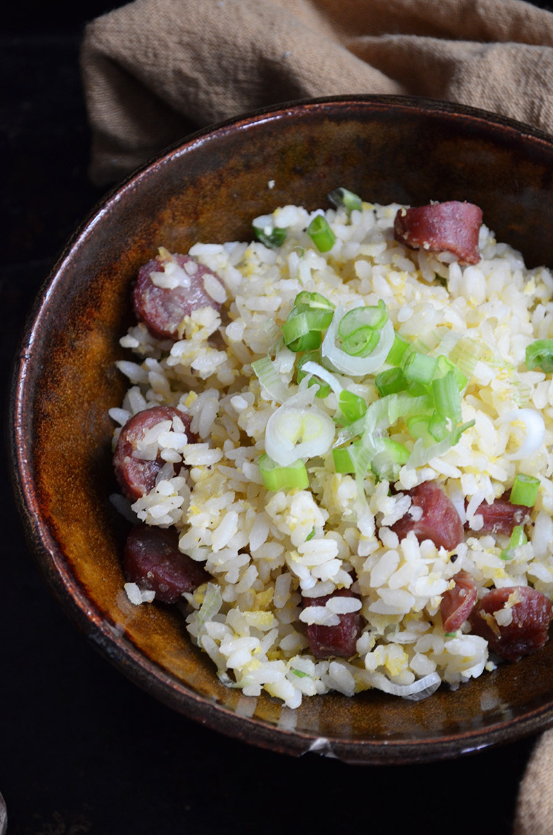 Chinese Sausage Fried Rice | Sprig and Flours