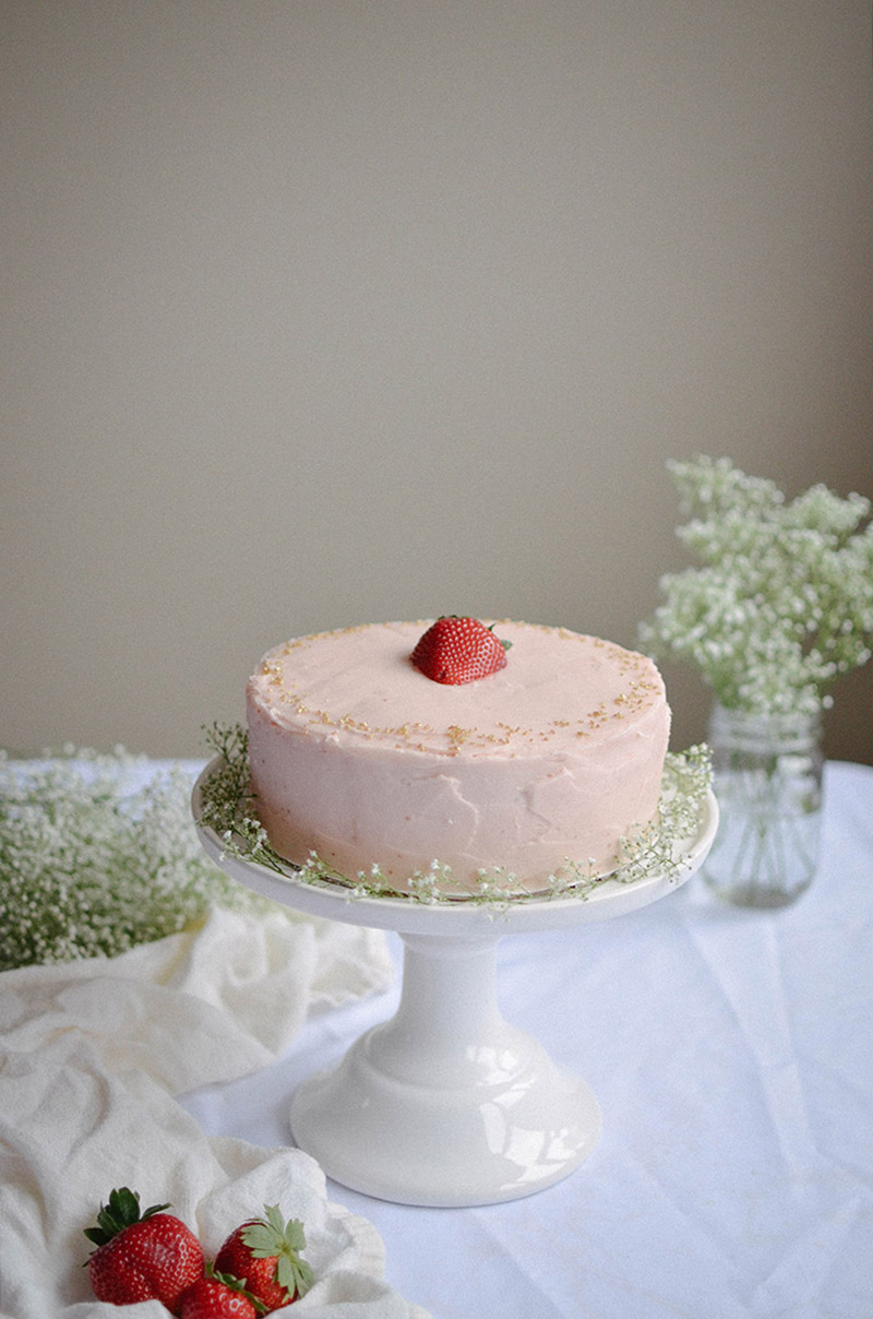 Strawberry Rhubarb Cake | Sprig and Flours23