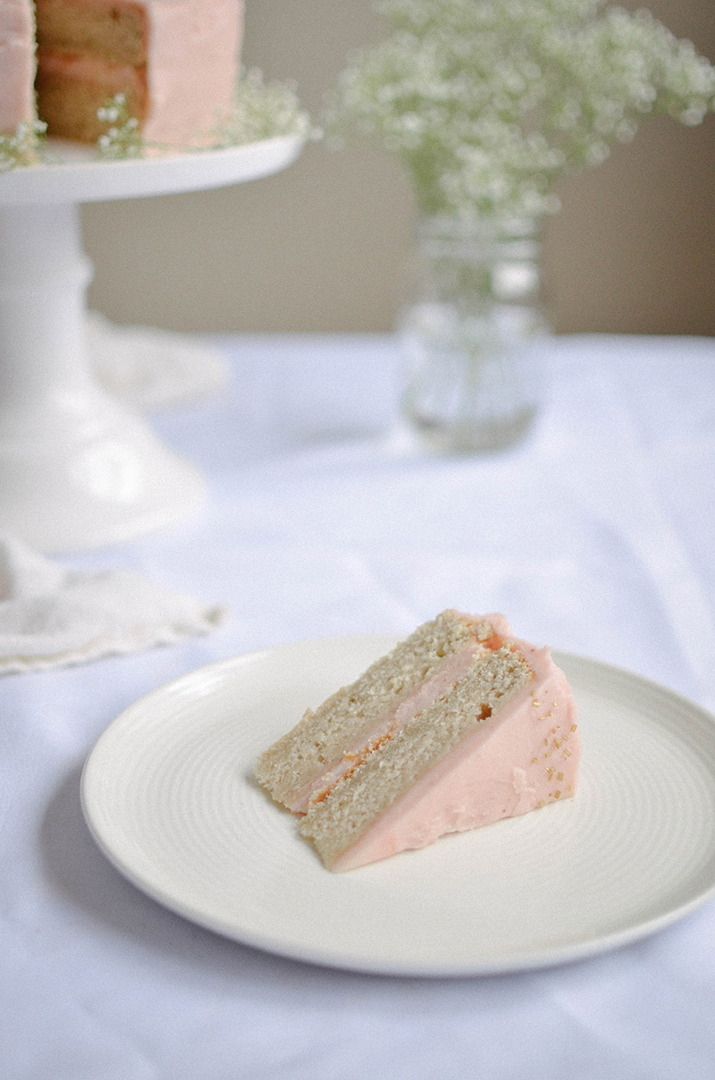 Strawberry Rhubarb Cake | Sprig and Flours30