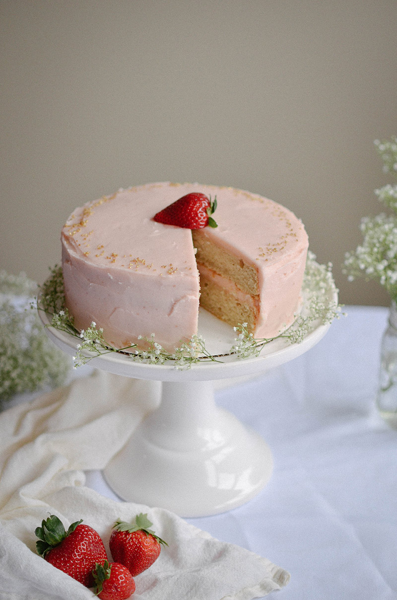Strawberry Rhubarb Cake | Sprig and Flours31