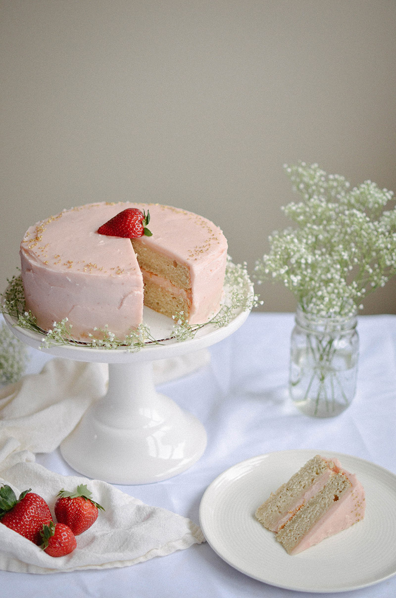 Strawberry Rhubarb Cake | Sprig and Flours33