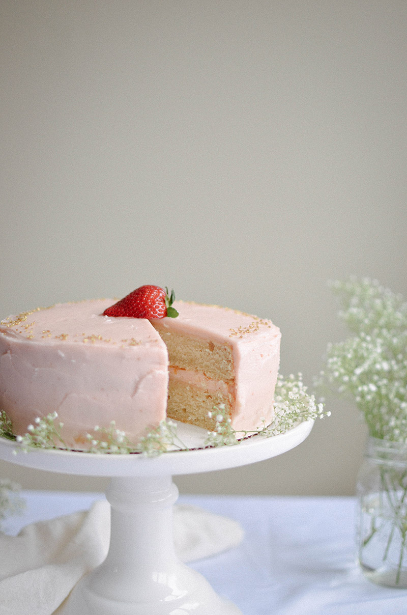 Strawberry Rhubarb Cake | Sprig and Flours36