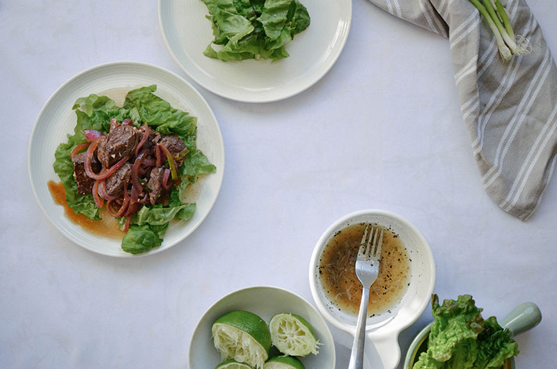 Vietnamese Shaking Beef | Sprig and Flours 1-3