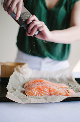 Pan-fried Salmon with Wasabi Dill Sauce | Sprig and Flours