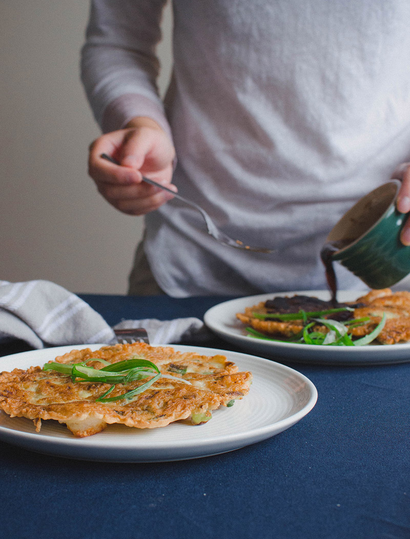 Korean Shrimp and Green Onion Pancake | Sprig and Flours