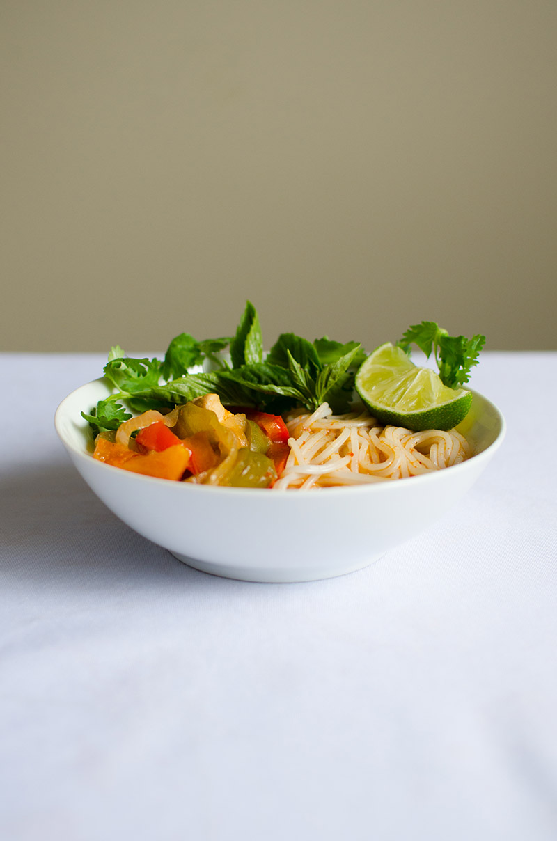 Red Curry Noodle Soup | Sprig and Flours