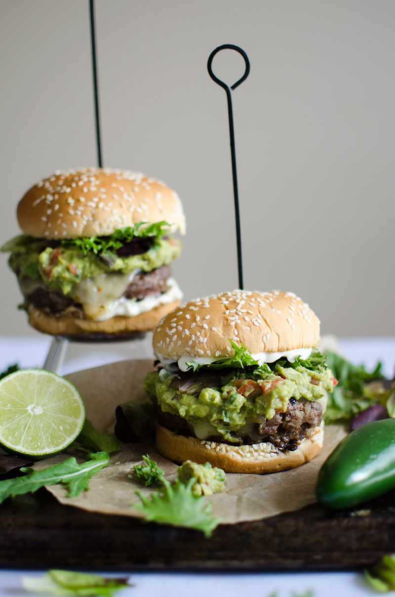 Spicy Guacamole Burger with Jalapeno Mayo | Sprig and Flours