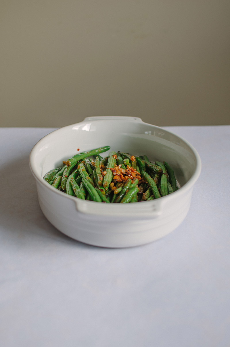 Garlic and Lemon Green Beans | Sprig and Flours