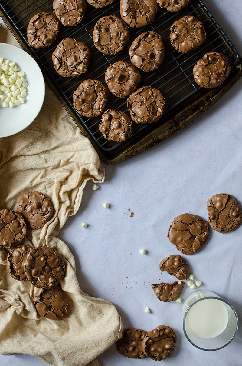 Gluten-free Chocolate White Chocolate Chip Cookies | Sprig and Flours