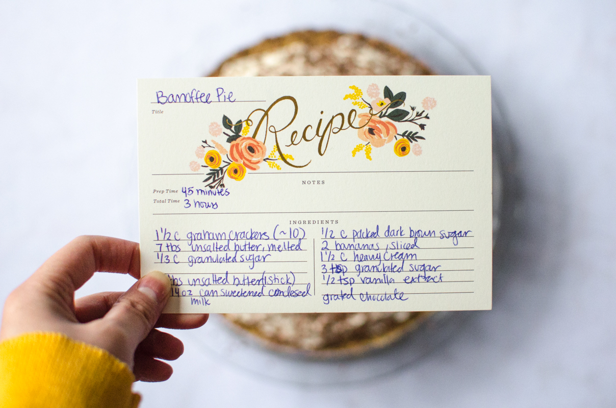 Banoffee Pie | Sprig and Flours