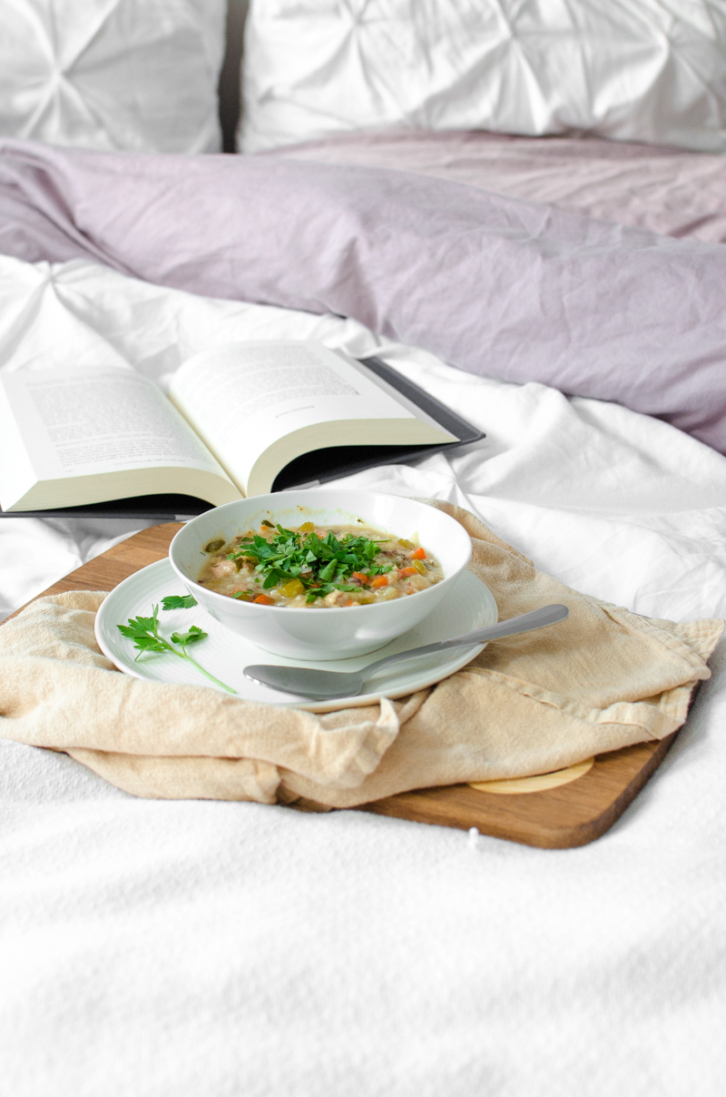 Chicken and Wild Rice Soup   Sprig and Flours
