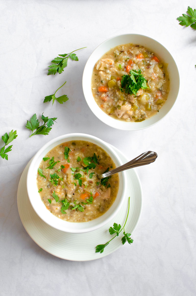 Chicken and Wild Rice Soup | Sprig and Flours