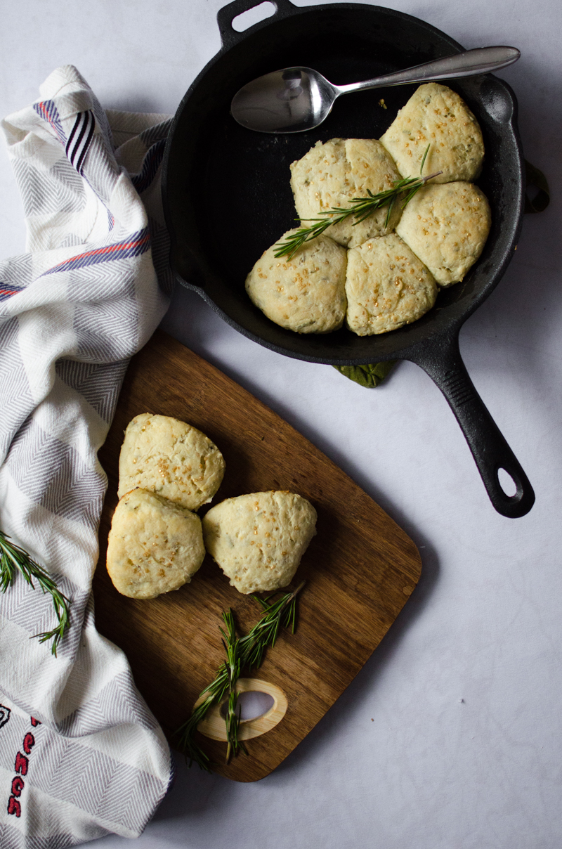 Rosemary Goat Cheese Biscuits | Sprig and Flours