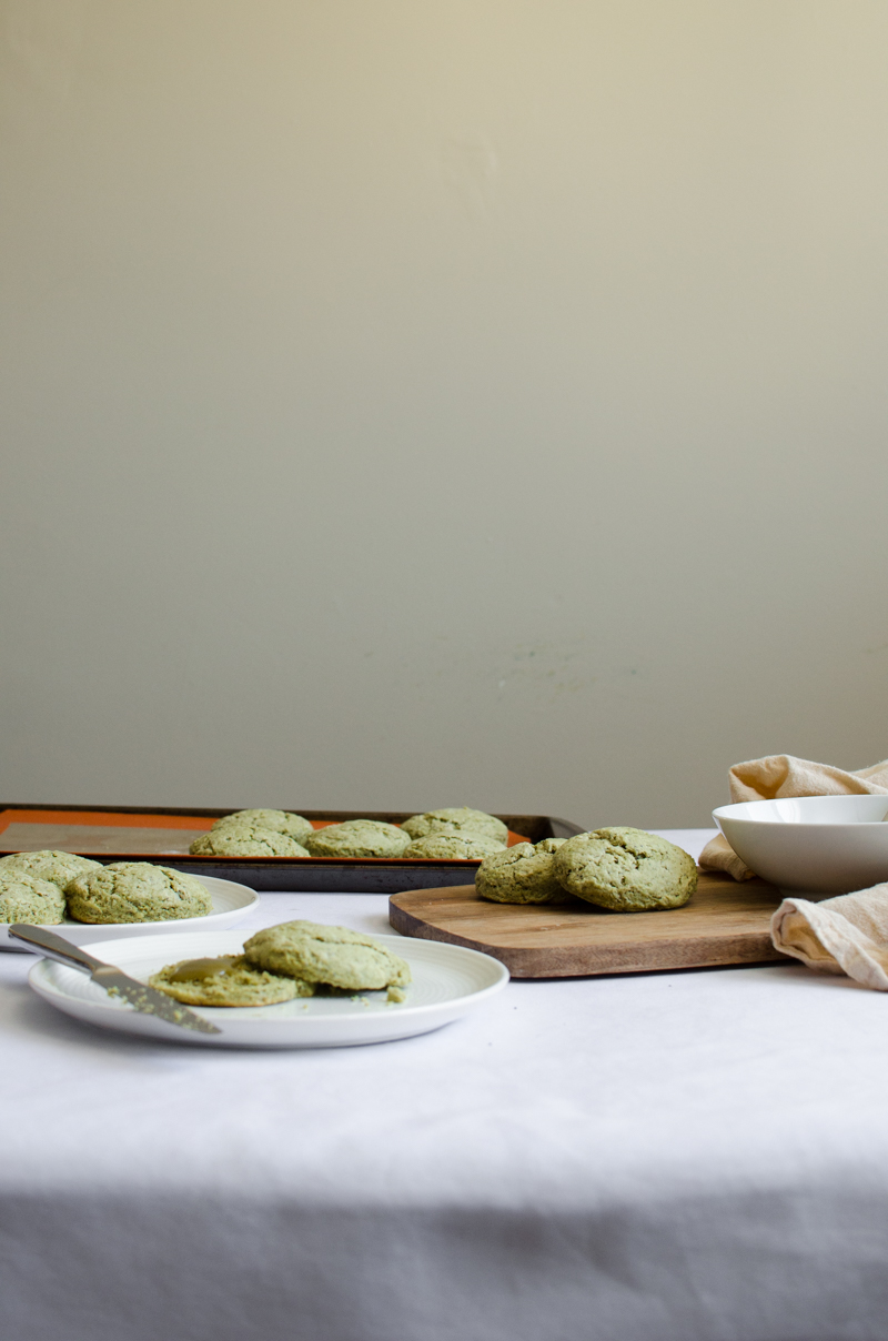 Green Tea Poppy Seed Scones with Green Tea Curd | Sprig and Flours-17