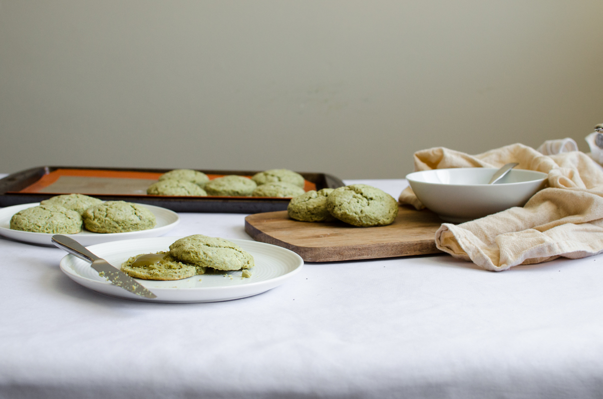 Green Tea Poppy Seed Scones with Green Tea Curd | Sprig and Flours-18