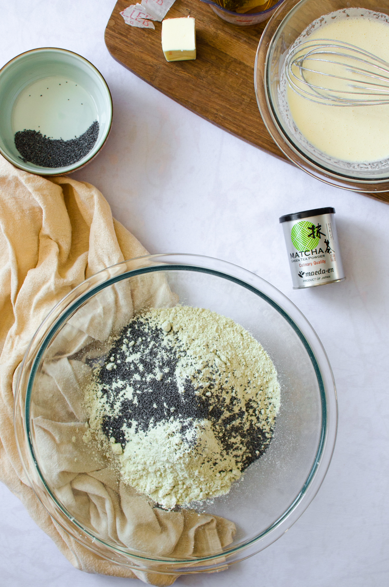 Green Tea Poppy Seed Scones with Green Tea Curd | Sprig and Flours