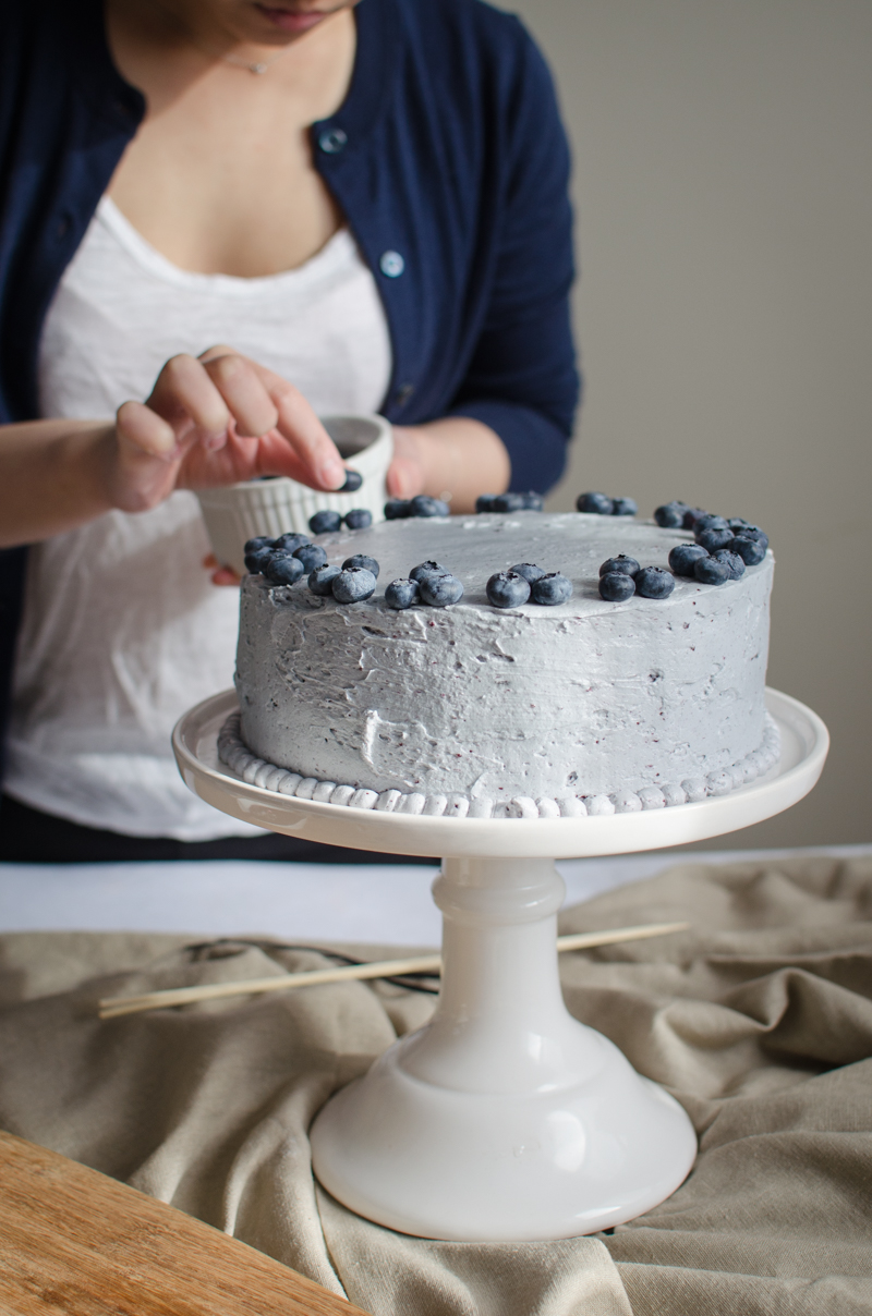 Blueberry Custard Cake | Sprig and Flours-20