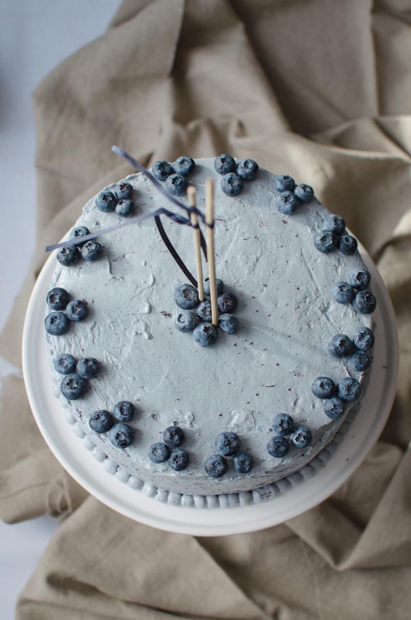Blueberry Custard Cake | Sprig and Flours-32