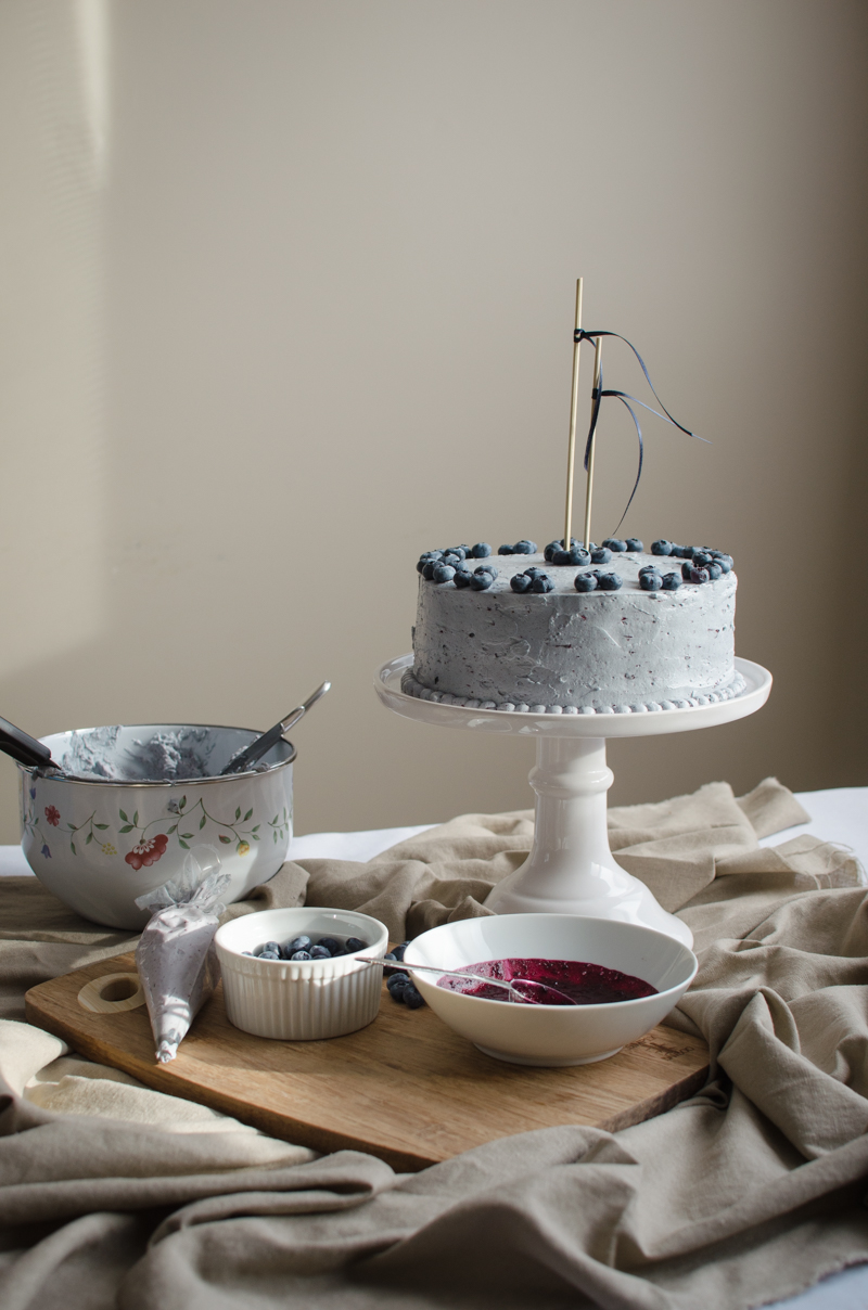 Blueberry Custard Cake | Sprig and Flours-37
