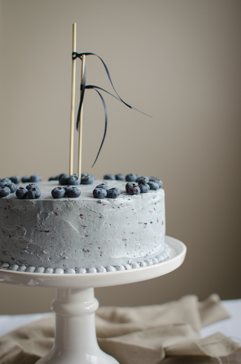 Blueberry Custard Cake | Sprig and Flours-42