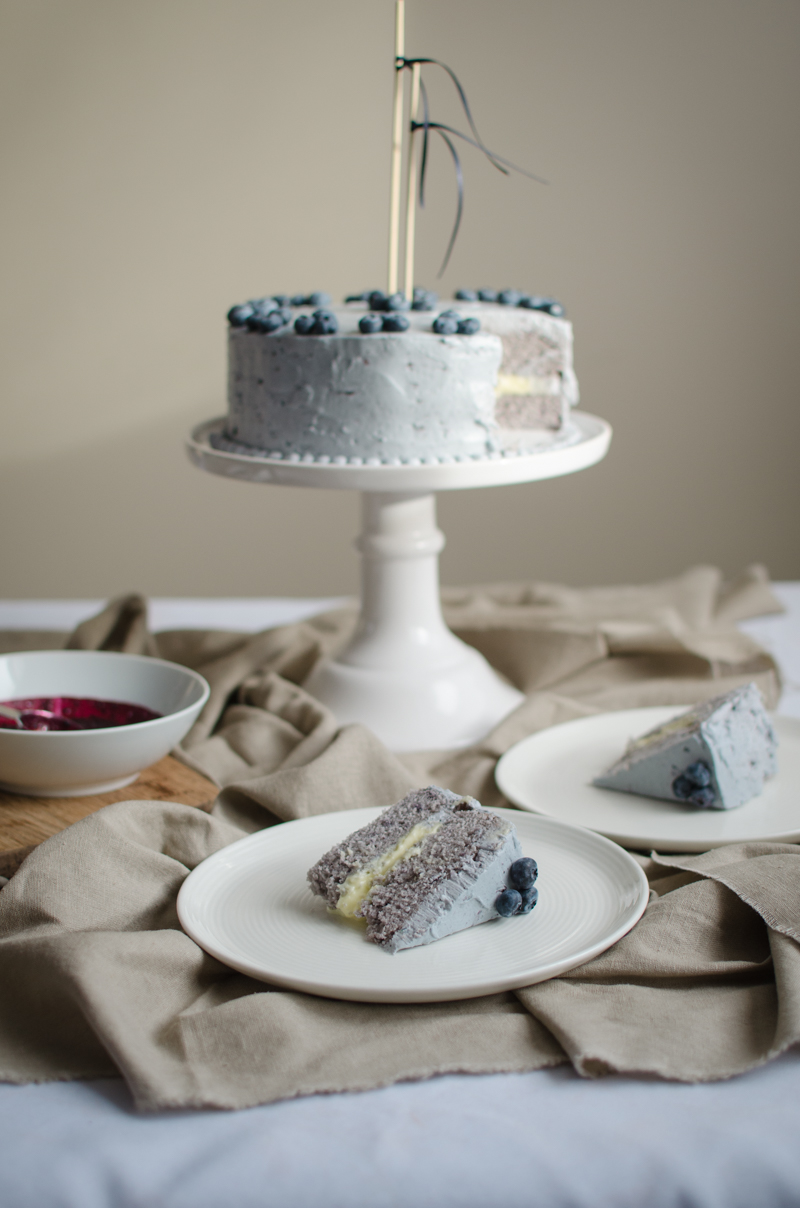 Blueberry Custard Cake | Sprig and Flours-50
