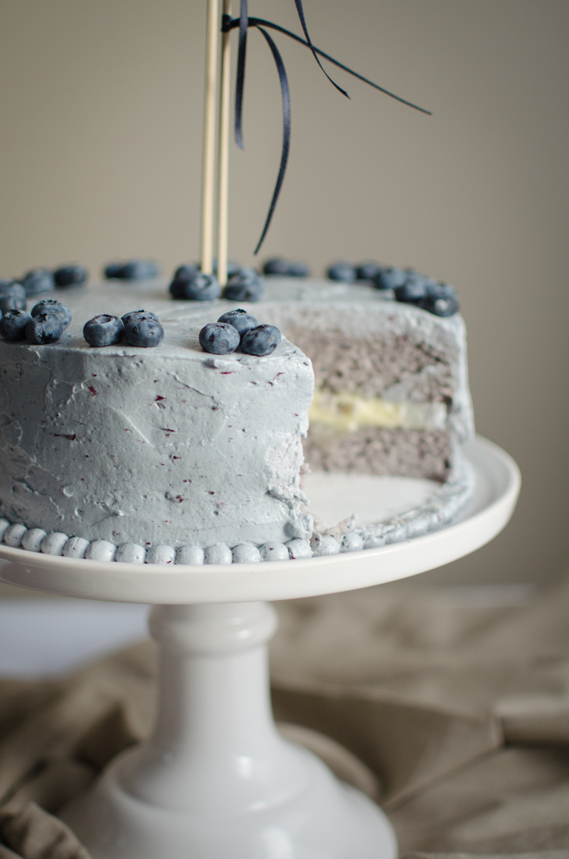 Blueberry Custard Cake | Sprig and Flours-55