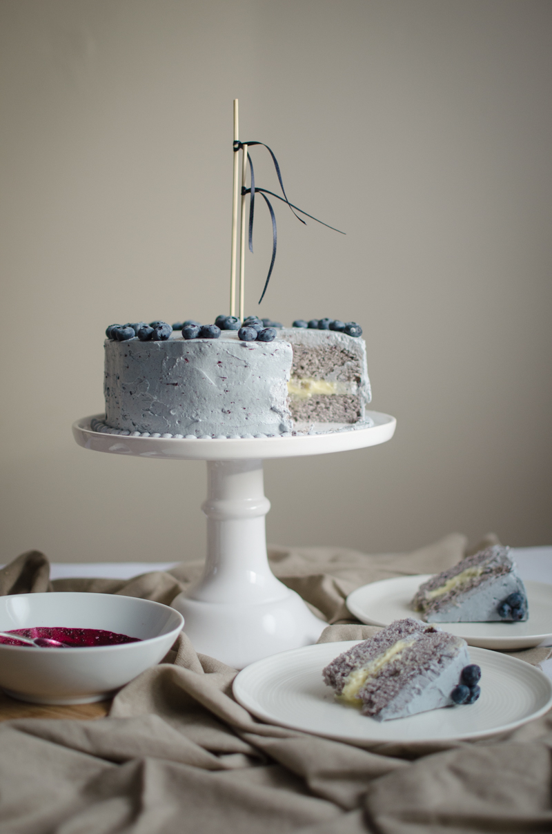 Blueberry Custard Cake | Sprig and Flours-56