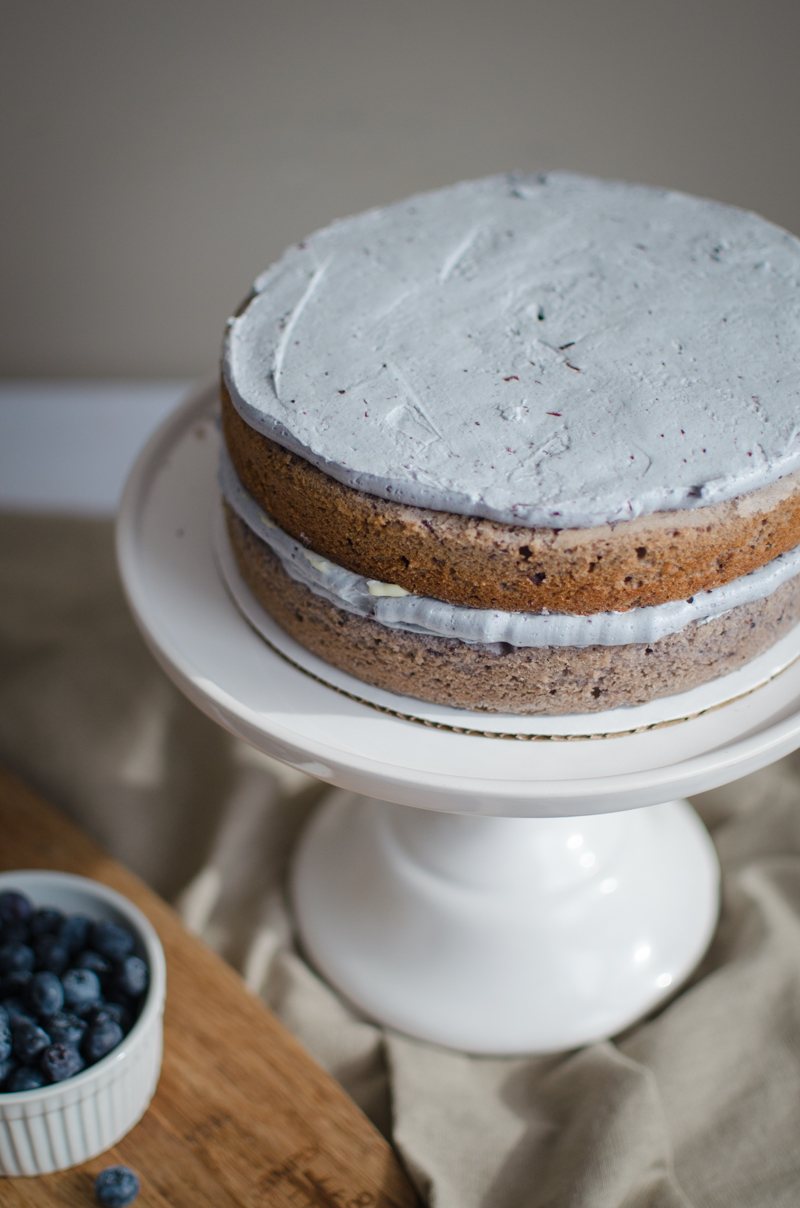 Blueberry Custard Cake | Sprig and Flours-9