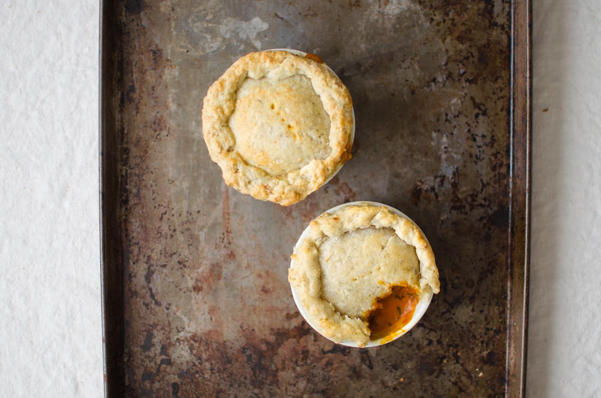Chicken Tikka Masala Pot Pies | Sprig and Flours-19