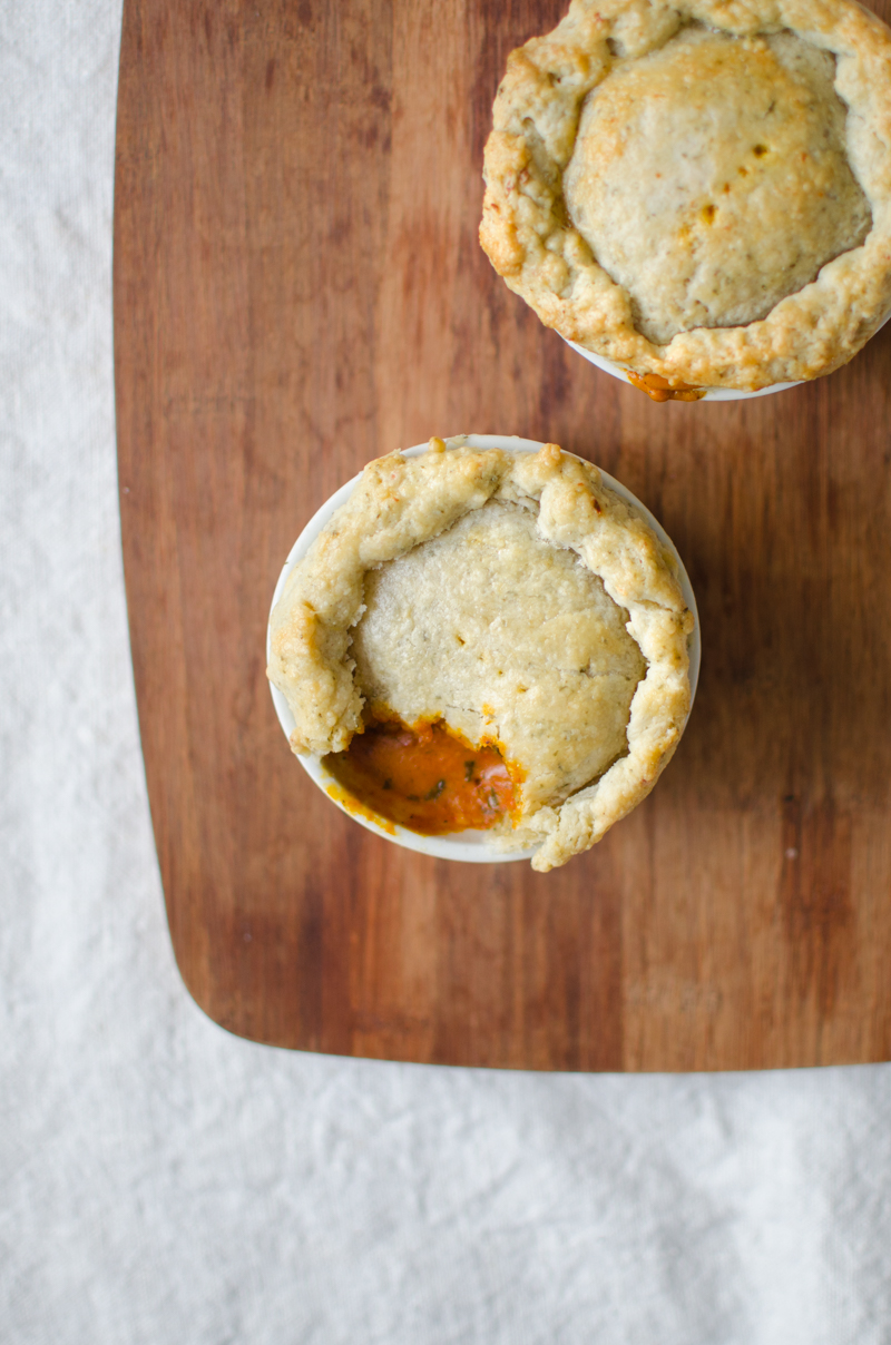 Chicken Tikka Masala Pot Pies | Sprig and Flours-23