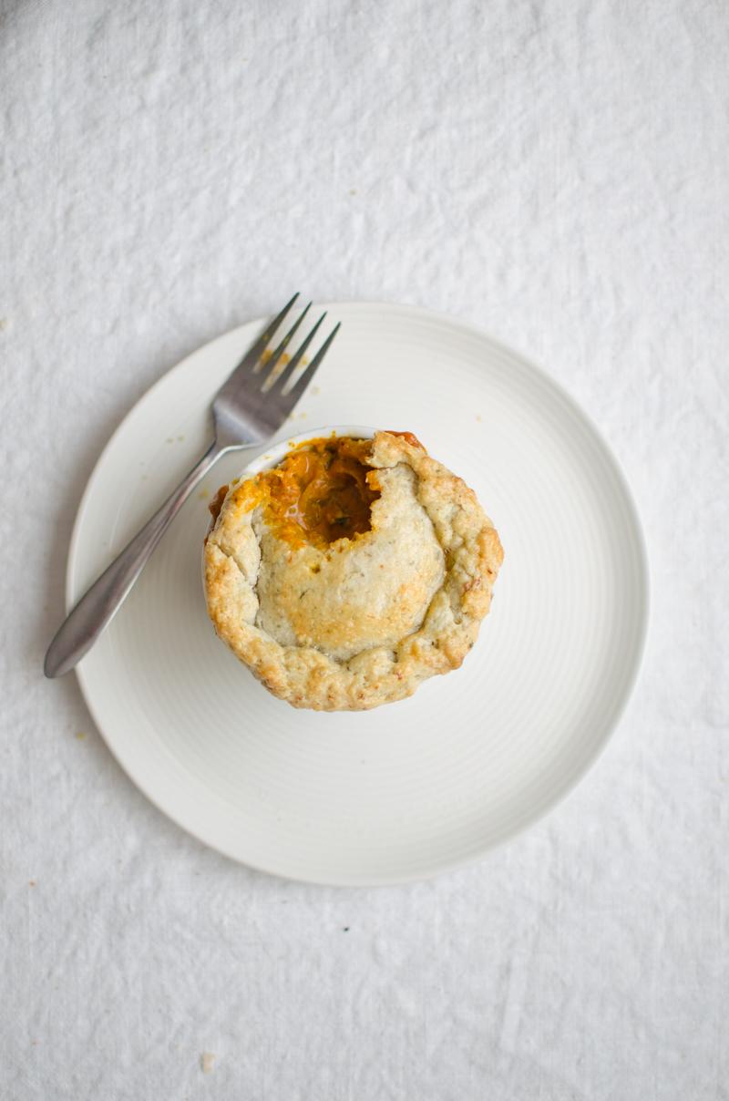 Chicken Tikka Masala Pot Pies | Sprig and Flours-26
