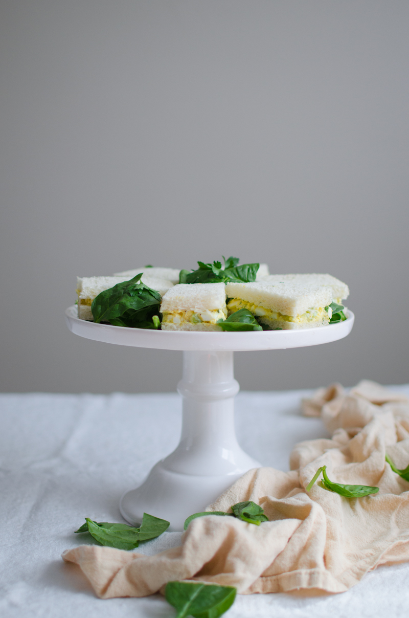 Egg Salad Tea Sandwiches | Sprig and Flours-12