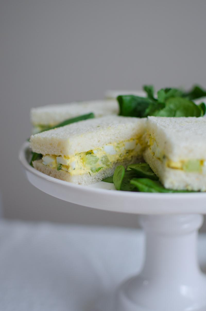 Egg Salad Tea Sandwiches | Sprig and Flours-9