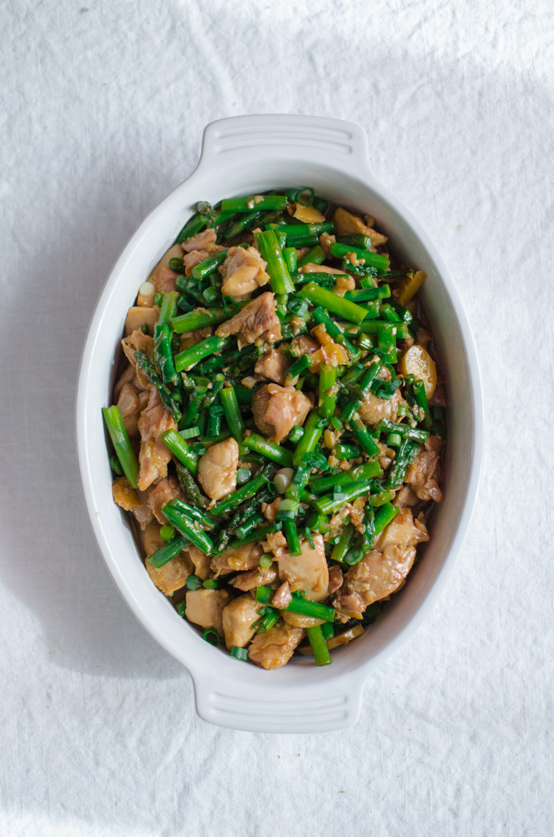 Garlic Ginger Chicken and Asparagus   Sprig and Flours