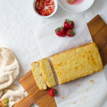 Strawberry Rhubarb Loaf Cake | Sprig and Flours-3