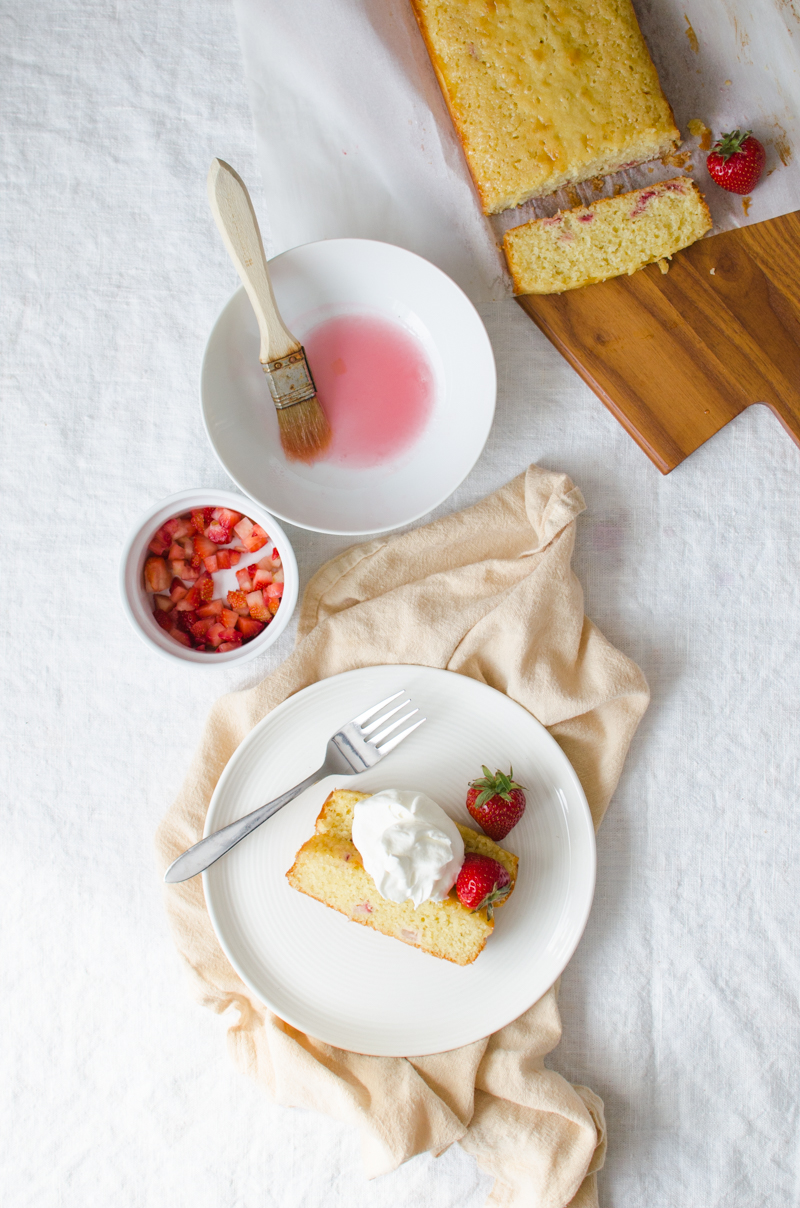 Strawberry Rhubarb Loaf Cake   Sprig and Flours