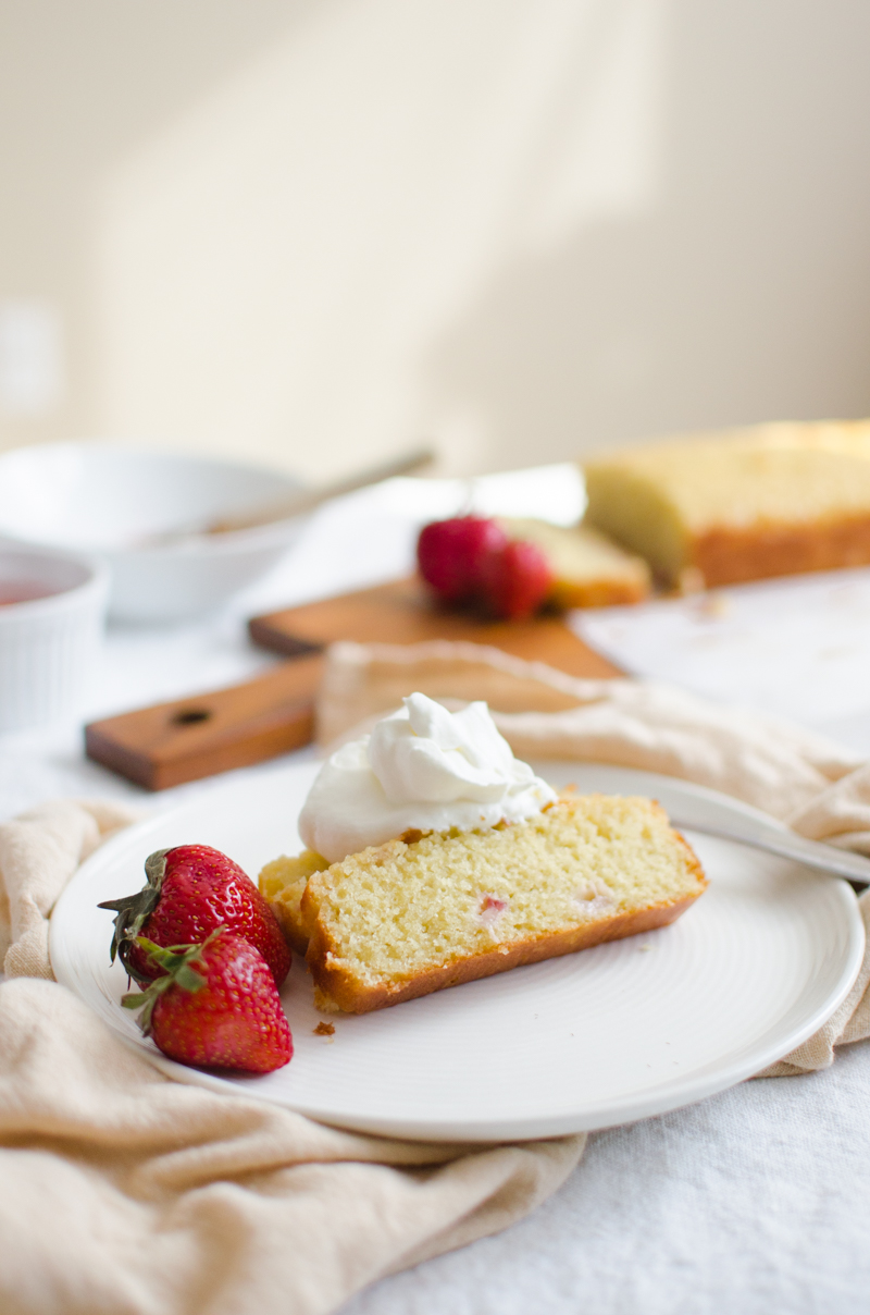 Strawberry Rhubarb Loaf Cake | Sprig and Flours