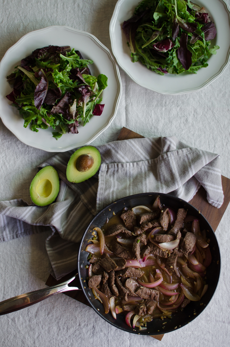 Peruvian Steak Salad | Sprig and Flours